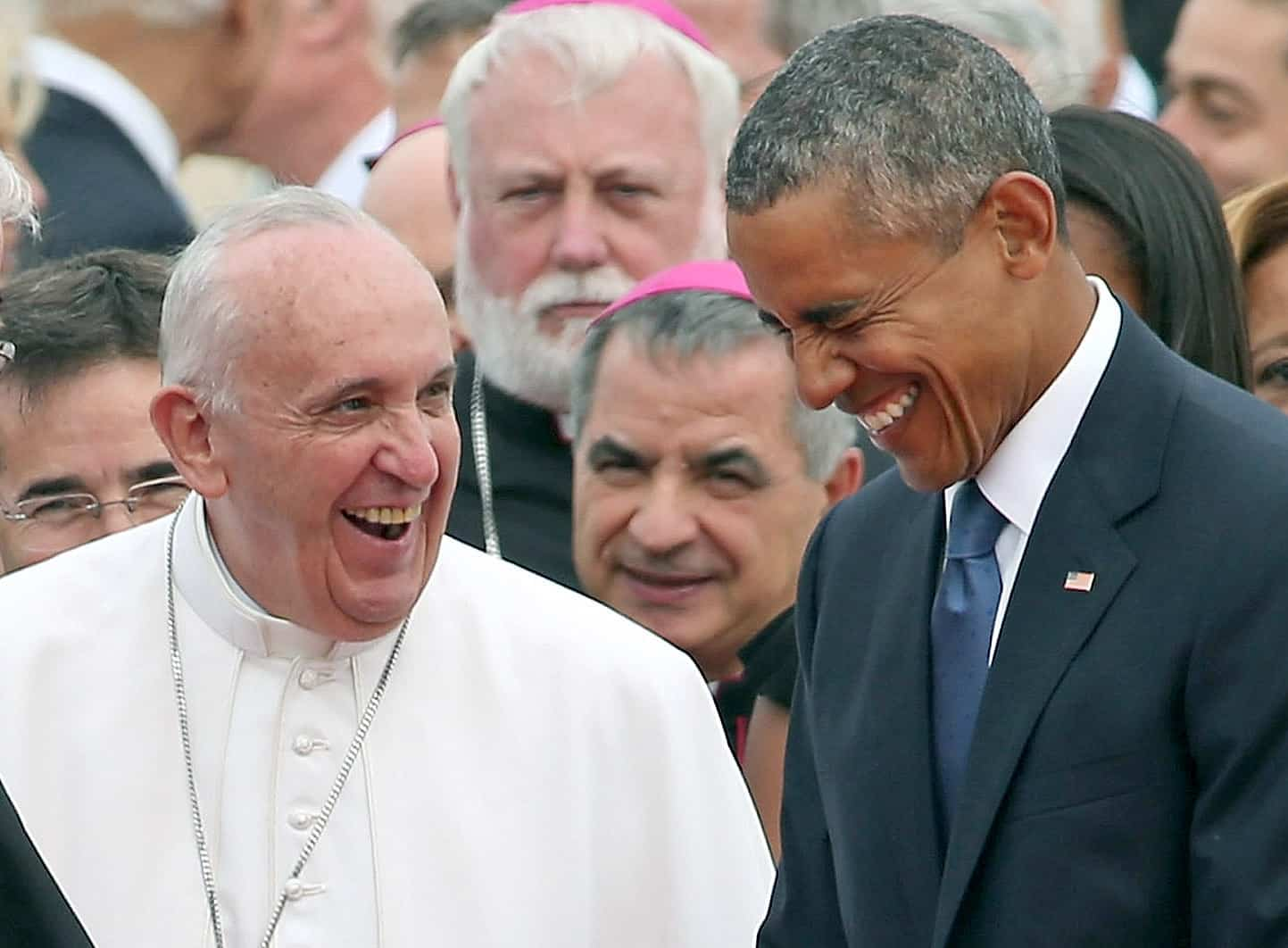 Pope Francis and Barack Obama.
