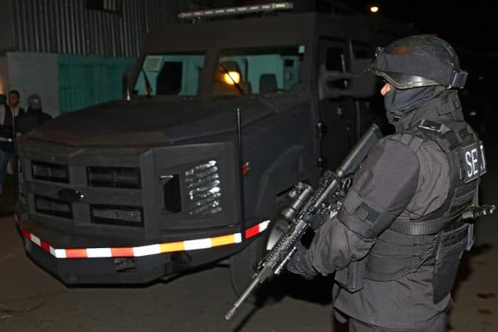 A SERT member outside The Protector