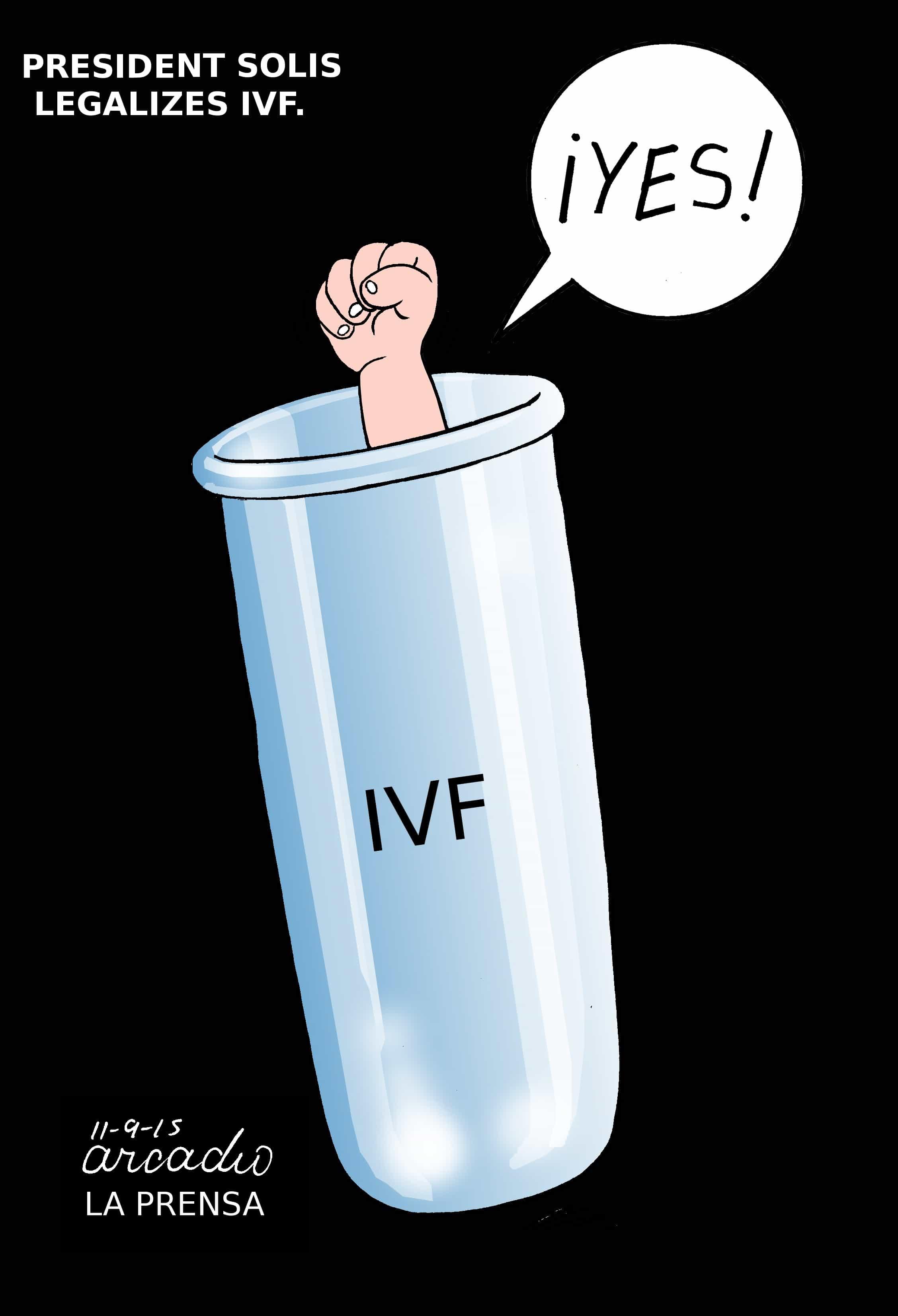 Cartoon IVF