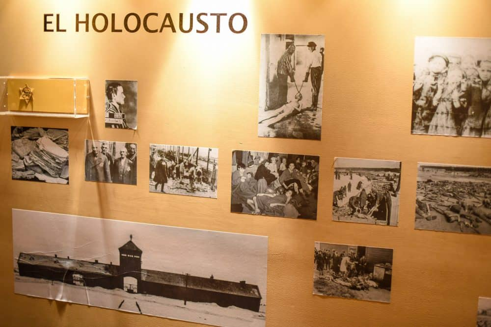 Pictures from the Holocaust on display at the Community Museum.