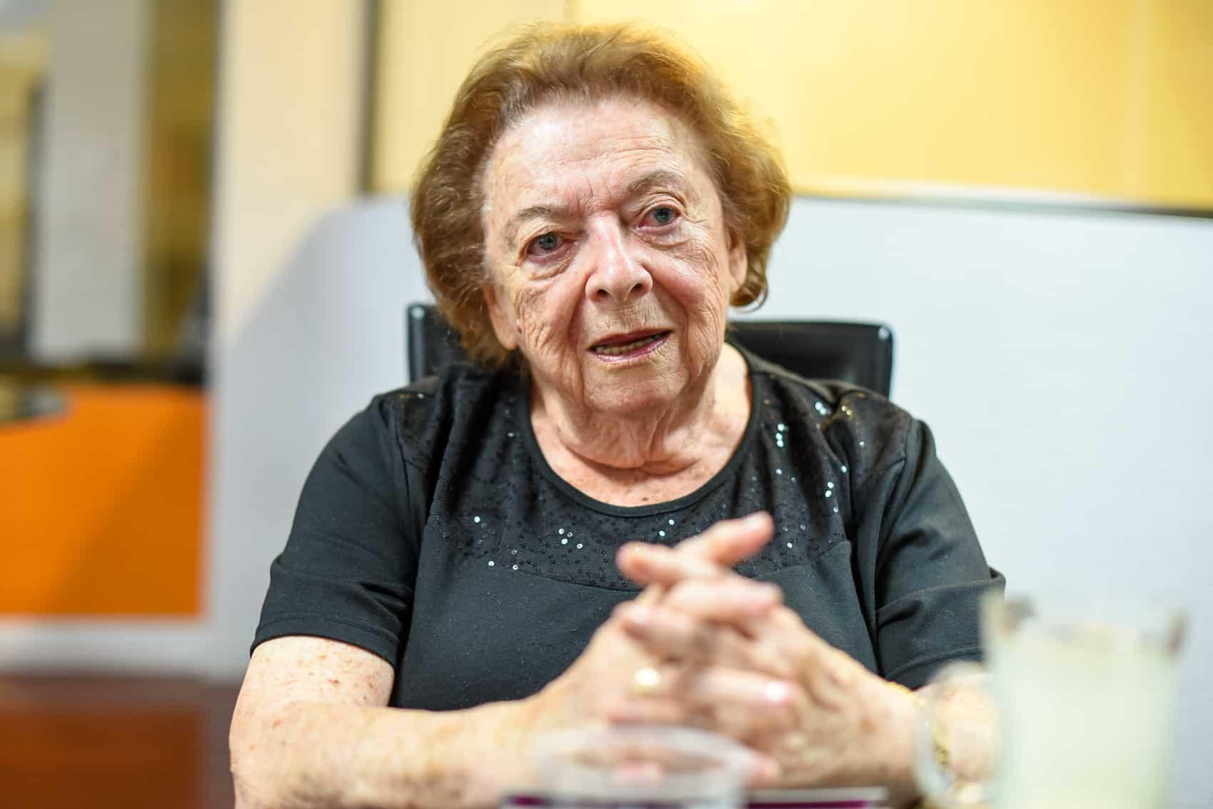 Magda de Davidovich (95), a holocaust survivor.