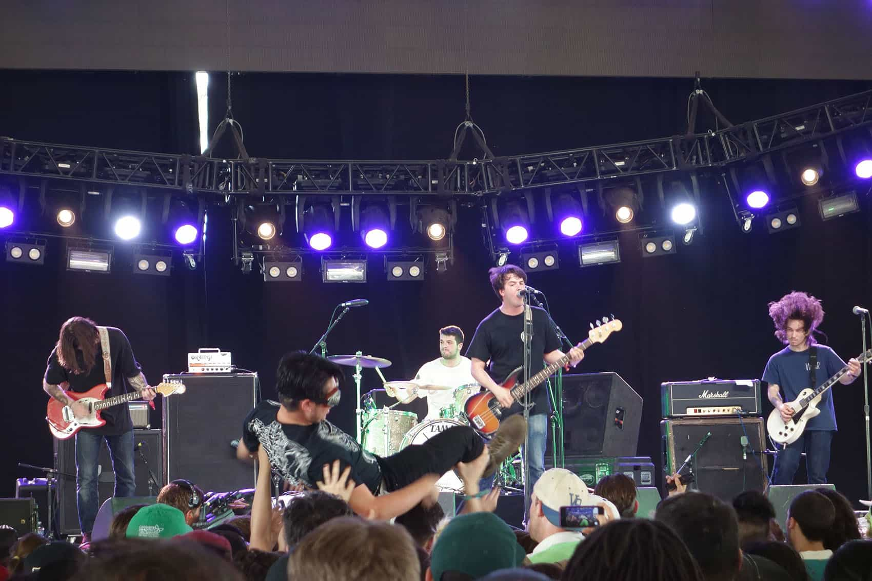 Title Fight performing in a concert.