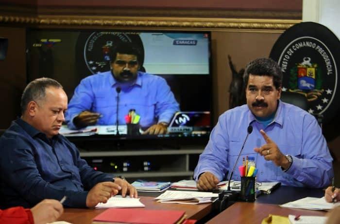 Venezuela President Nicolás Maduro and Diosdado Cabello.