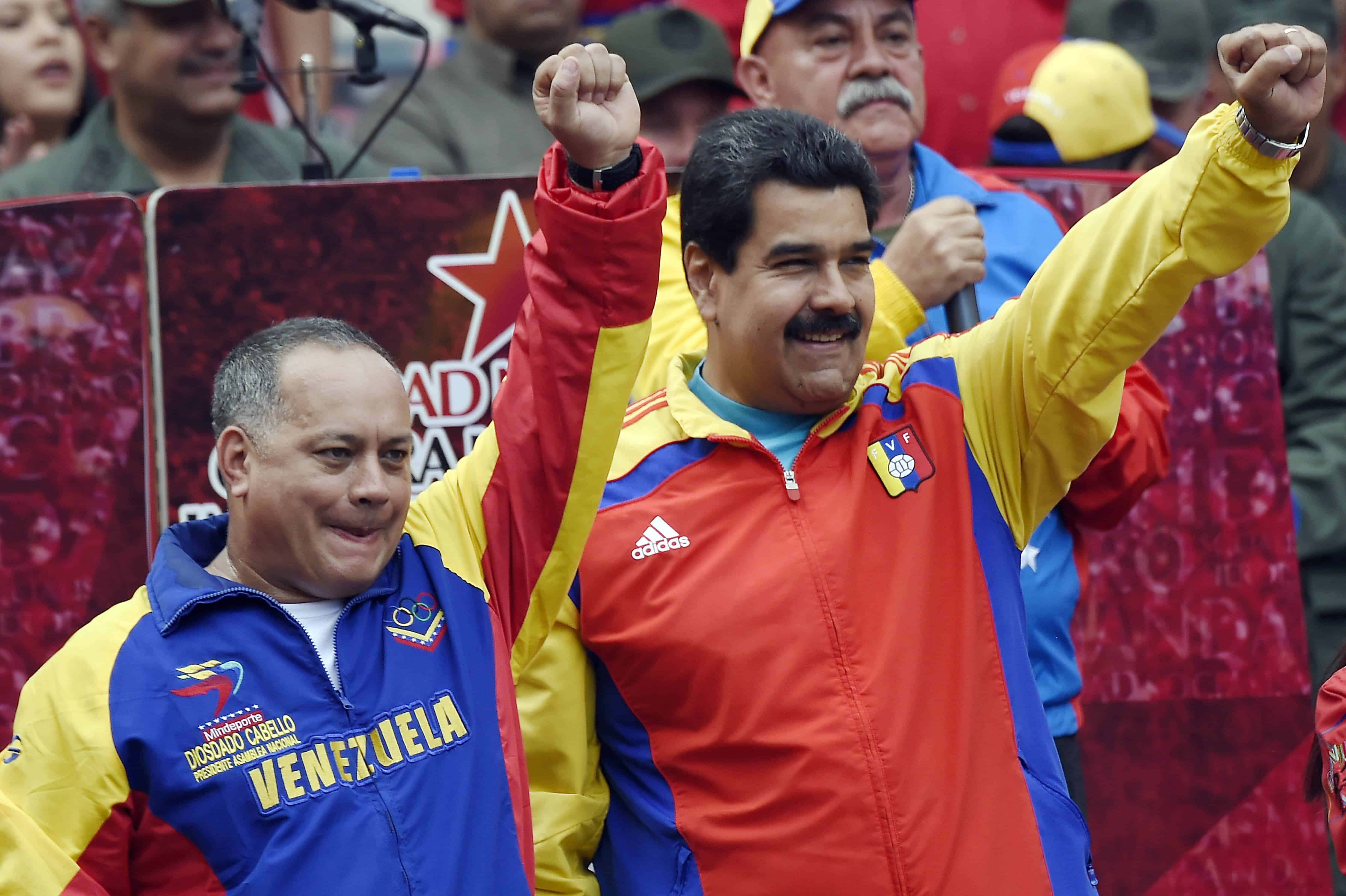 Venezuela's Nicolás Maduro and Diosdado Cabello.