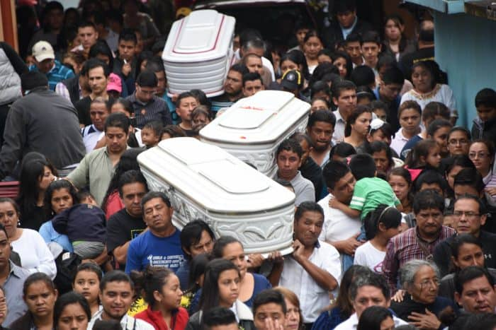 Guatemala landslide funeral