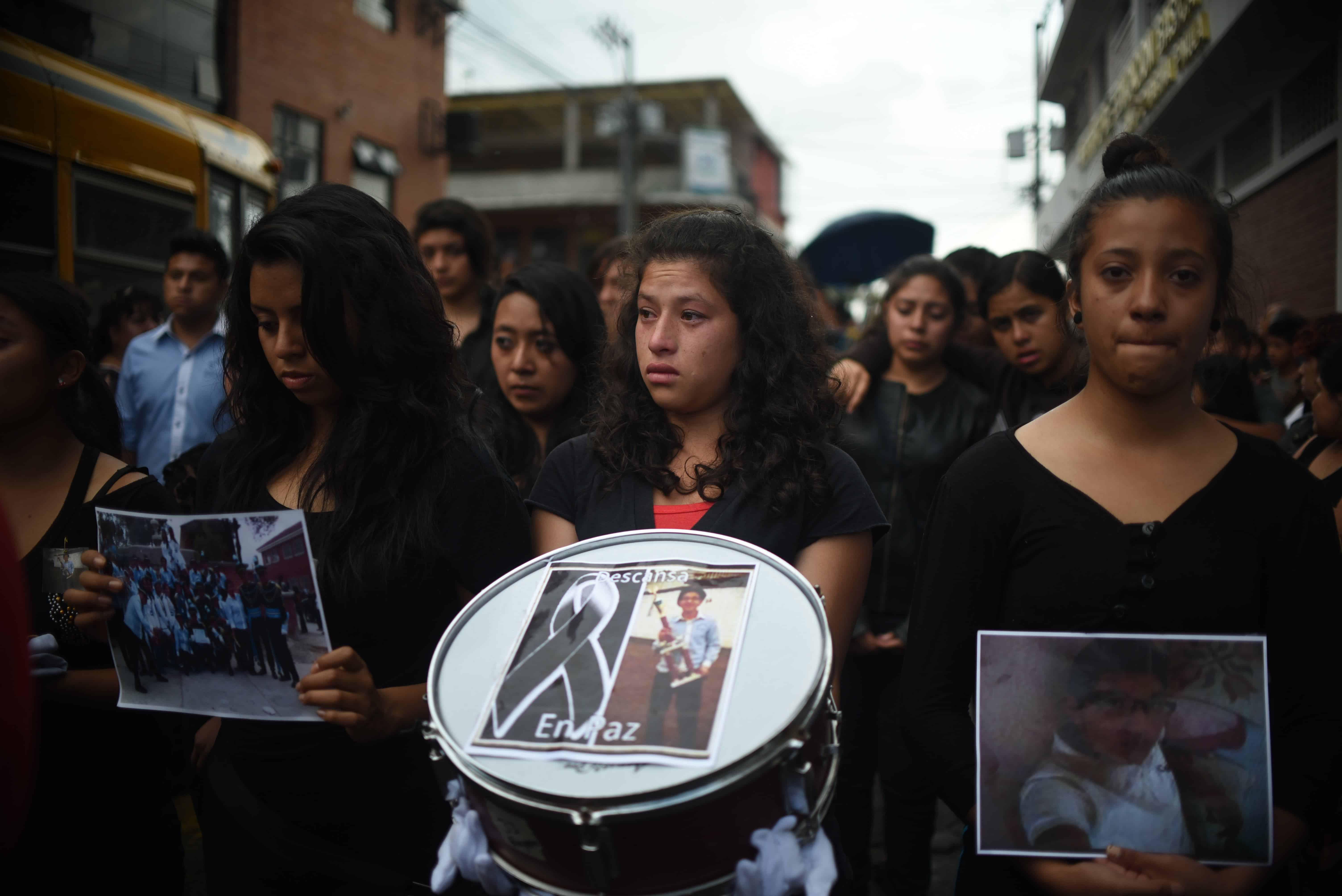 Guatemala landslide funeral.