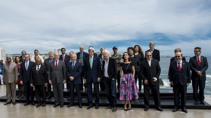 "Participants in the ""Our Ocean"" summit at Viña del Mar, Chile."