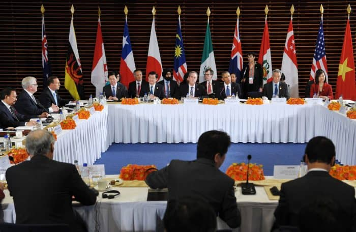 Trans-Pacific Partnership meeting.