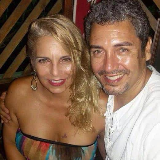 Monica with Augusto Polo.