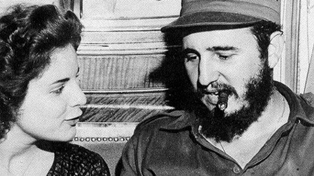 Marita Lorenz with Fidel Castro.