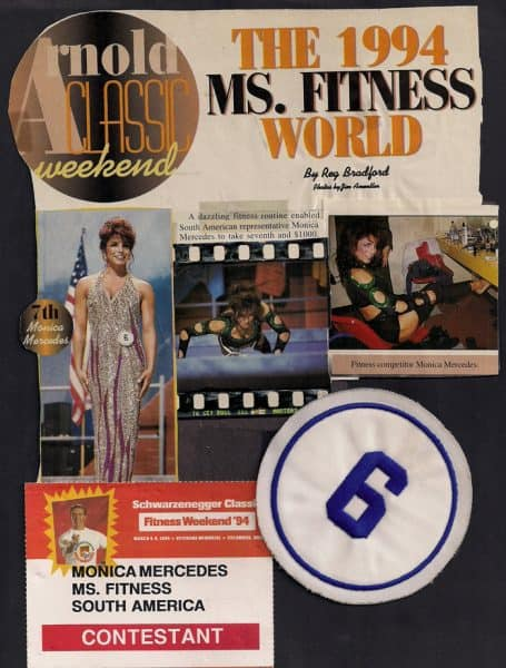 Monica in the 1994 Ms. Fitness World competition.
