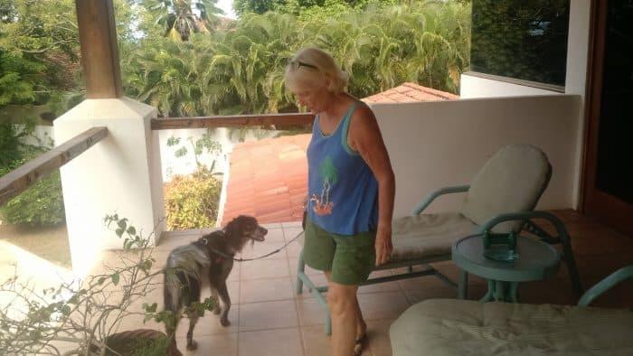Suzye Lawson and her dog Manchita