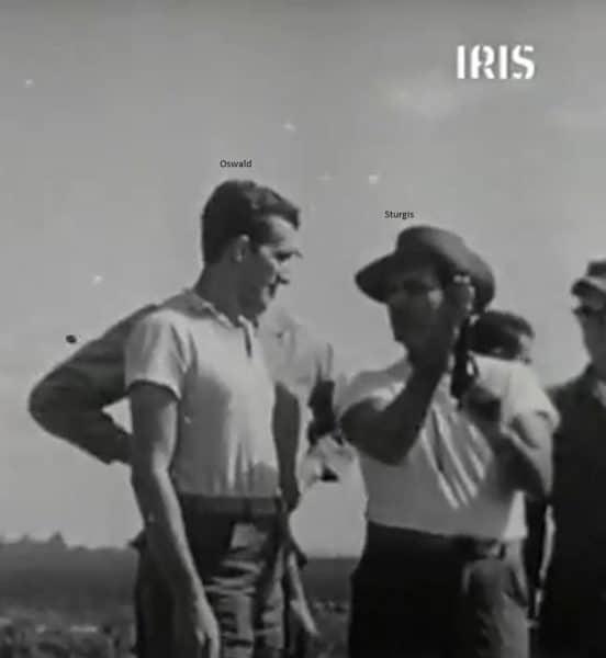 A photo said to show Lee Harvey Oswald, left, and Frank Sturgis.