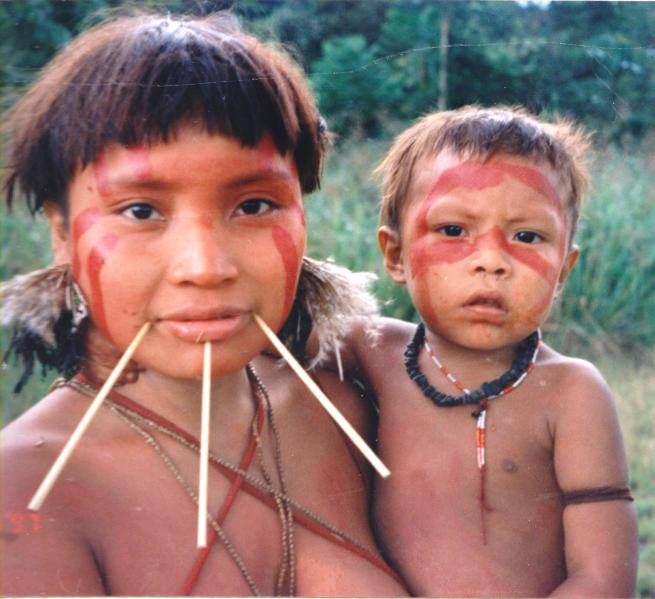 A Yanomami girl and child (for illustrative purposes).