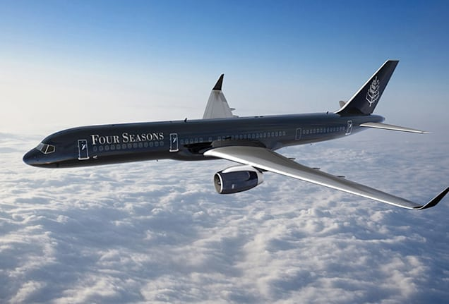 Four Seasons Boeing 757 private jet.