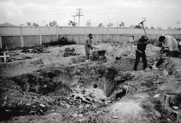 Colombia Justice Palace mass grave, 1986