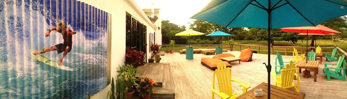 The deck at Shakas.
