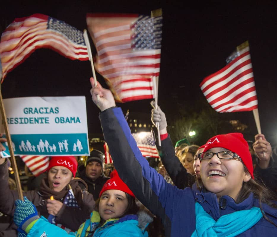 supporters cheer Obama immigration plan