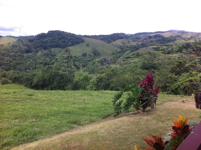 View of the hills from our house.
