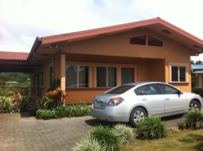Our beautiful rental house on the shores of Lake Arenal.