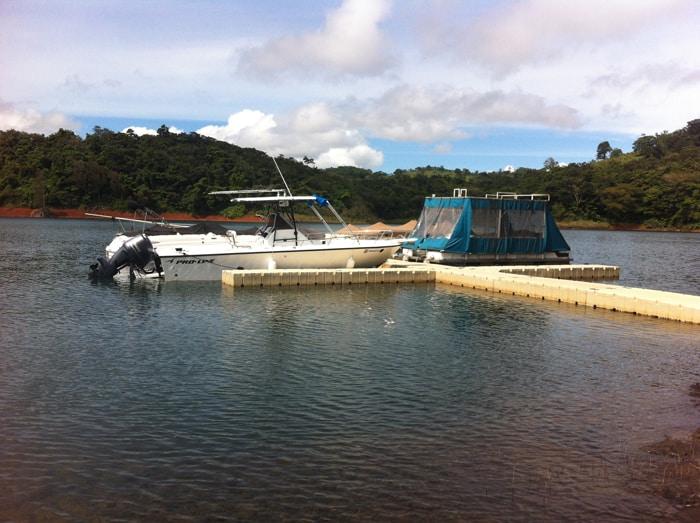 A dock at Lake Arenal.