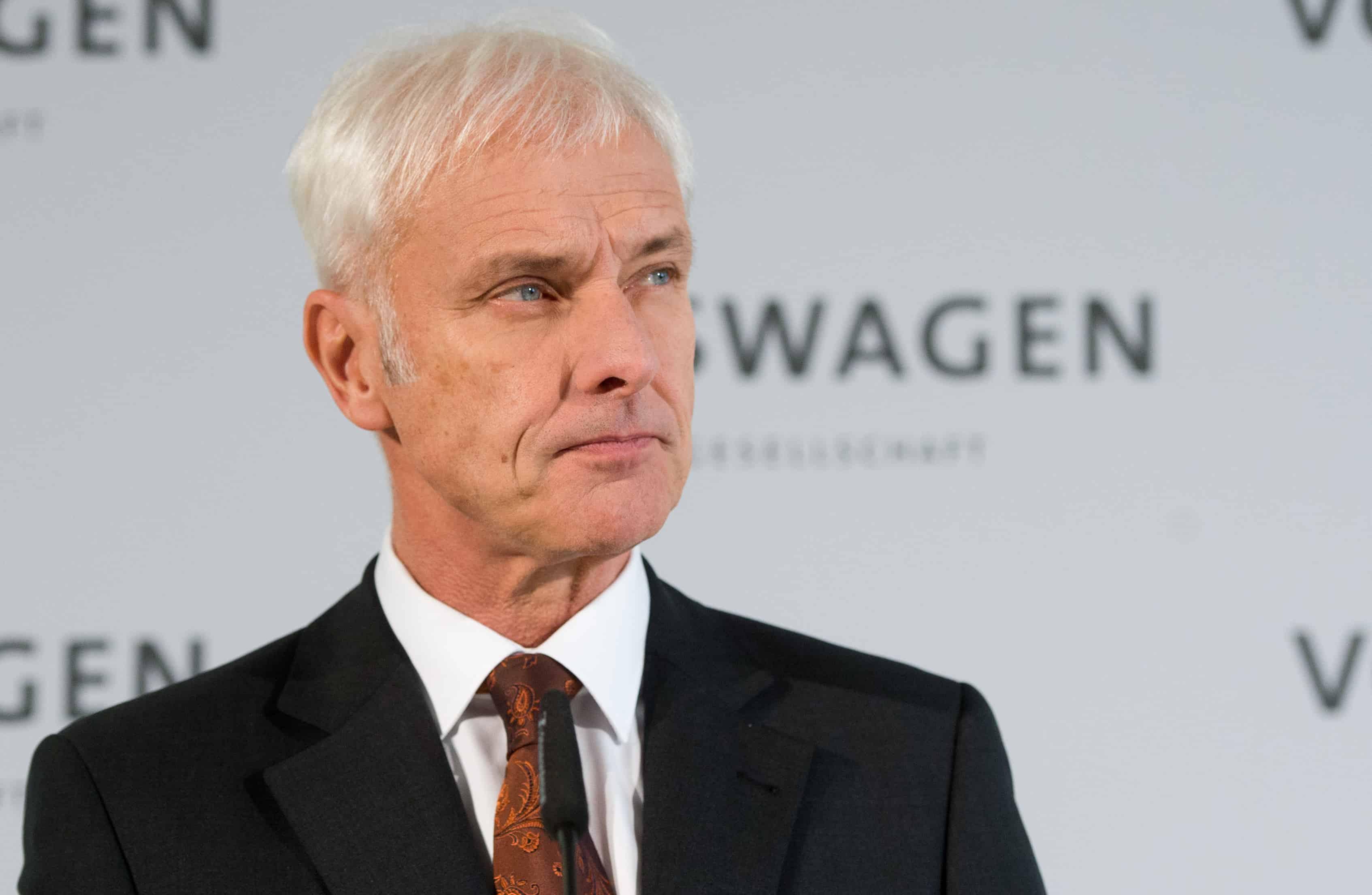 VW CEO Matthias Mueller