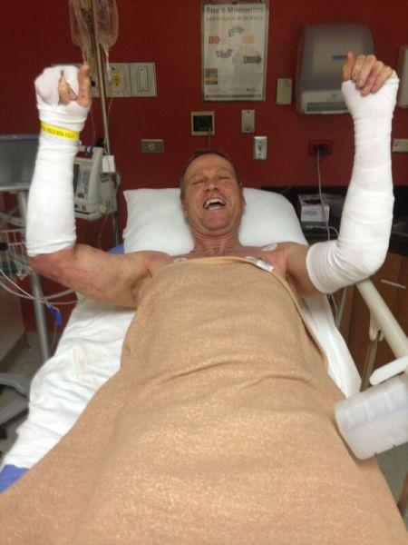 Mark Lyons at hospital