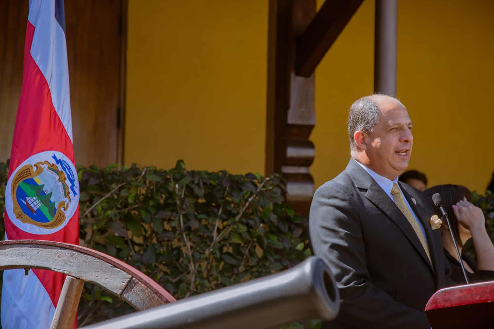 President Luis Guillermo Solís speaks at the National Museum