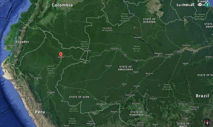 Iquitos, Peru map