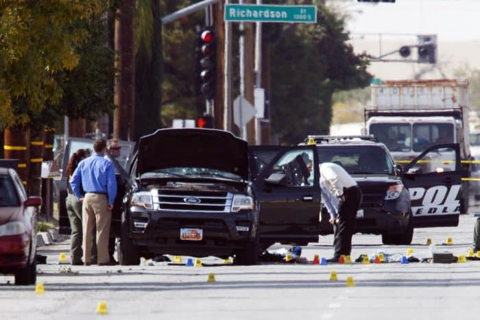 San Bernardino attacks: suspects' vehicle