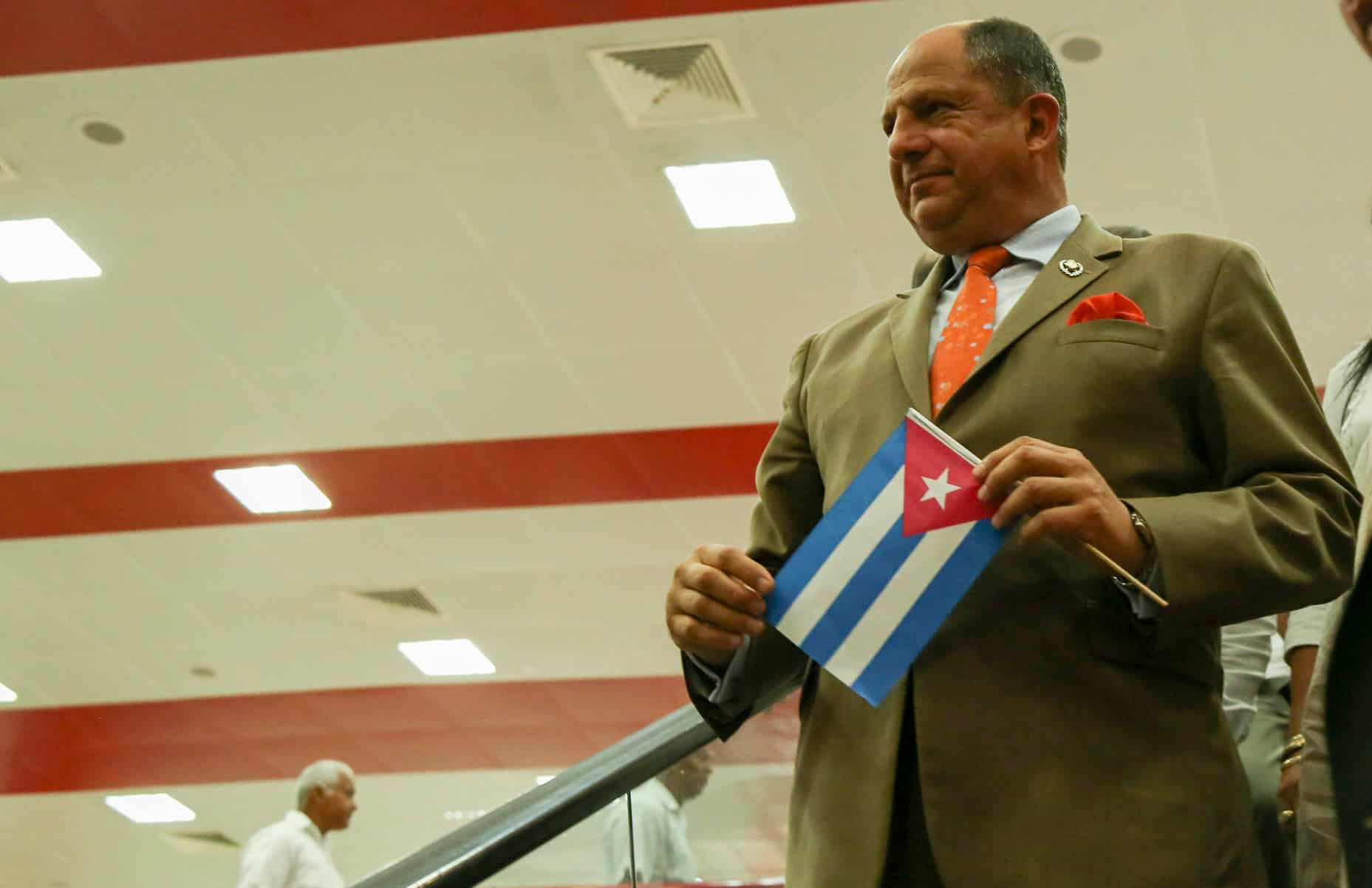 Costa Rica President Luis Guillermo Solís addresses Cuban migrants crisis during Cuba visit