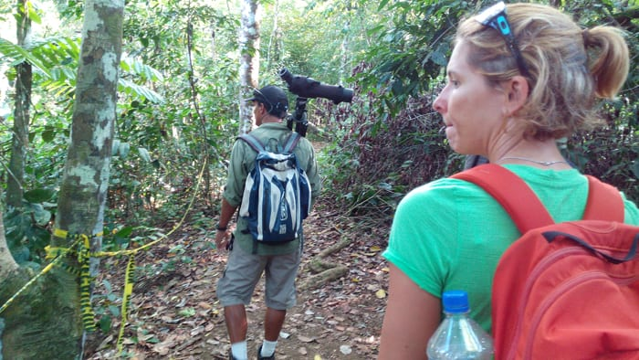 Corcovado tour guide Vincent Campos leads the way on a search for tapirs.
