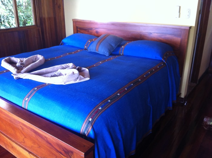 Upstairs bed.