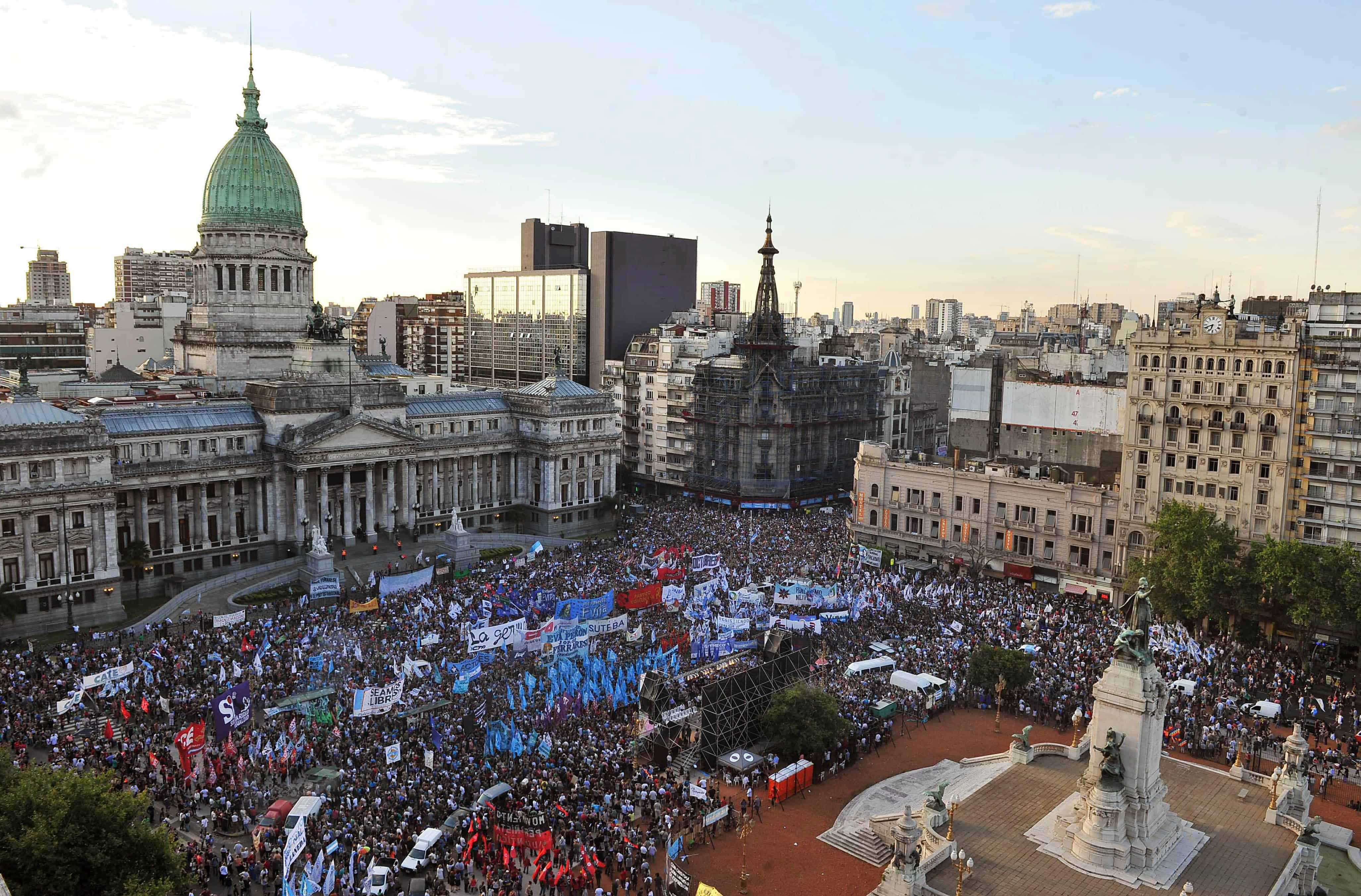 Latin America, Argentina protest in Buenos Aires