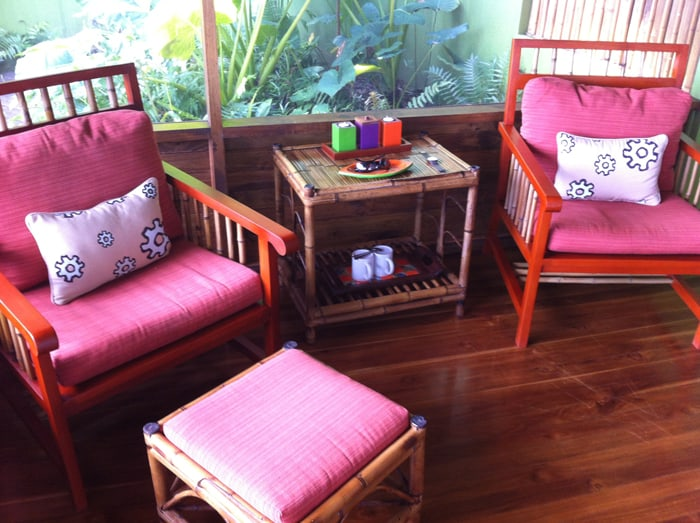 Seating area in our room.
