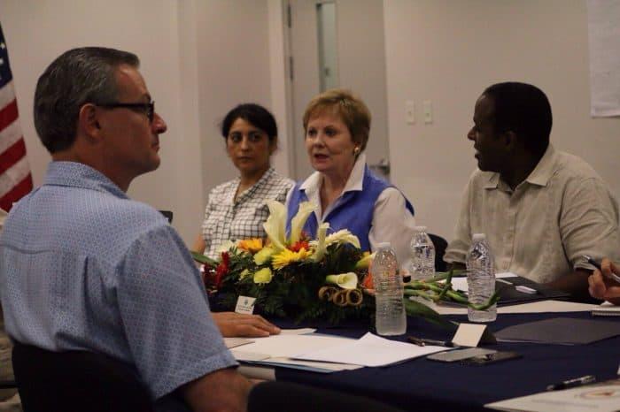 Foreign Minister Manuel González, U.S. Rep. Kay Granger and Ambassador F. Fitzgerald Haney