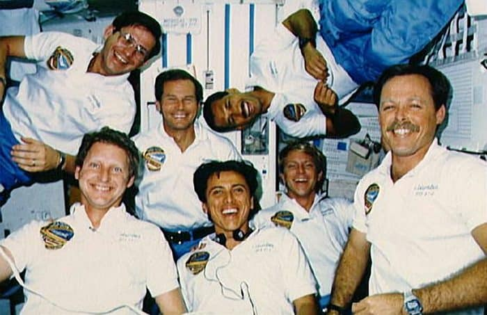 Franklin Chang with crew of the STS-61C NASA Mission