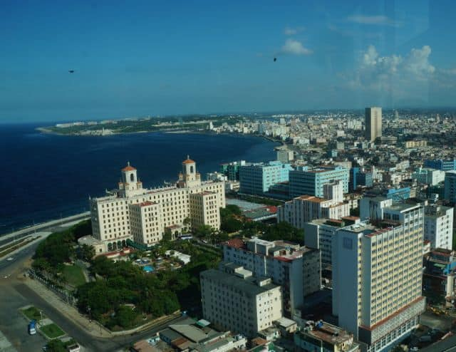 The Hotel Nacional de Cuba is a dominating feature of the Havana skyline.