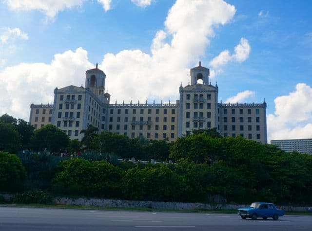 Façade of the Hotel Nacional de Cuba.