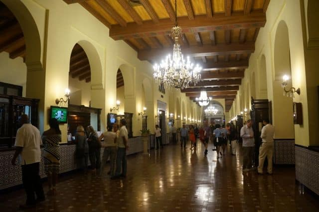 The lobby retains a classic, 1930s Cuban style.