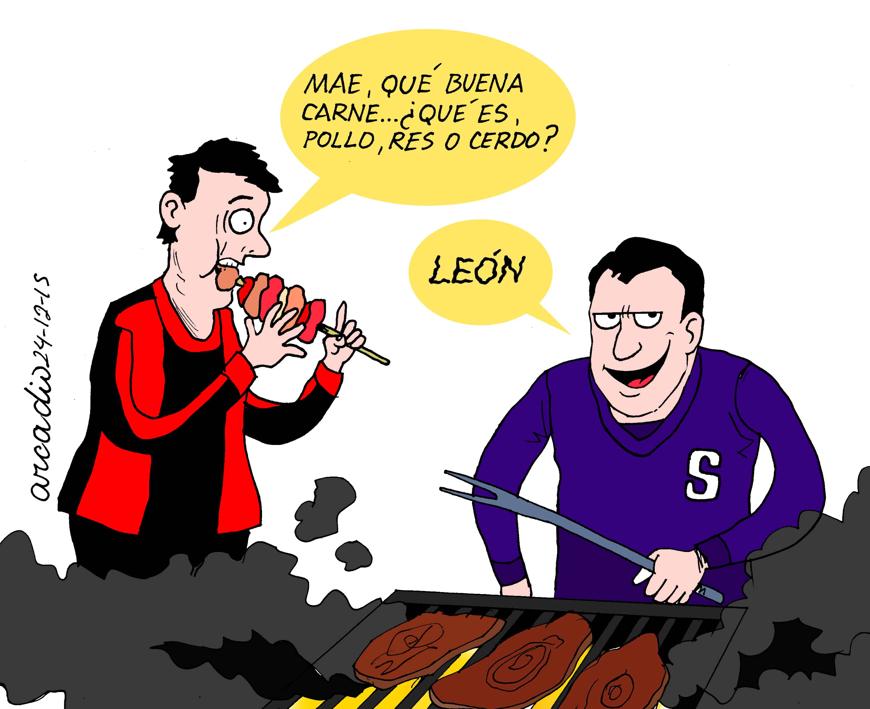 Cartoon Arcadio