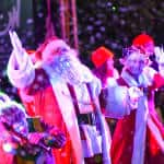Santa Claus and Mrs. Claus do a little jingle at the lighting of the Christmas Tree.