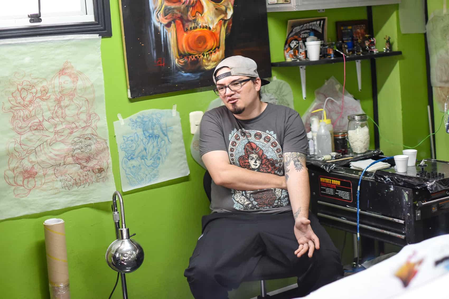 Tattoo artist Luis Bonilla.