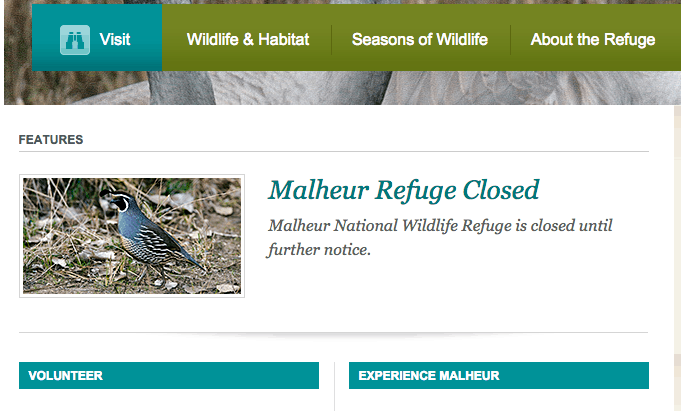Malheur National Wildlife Refuge website