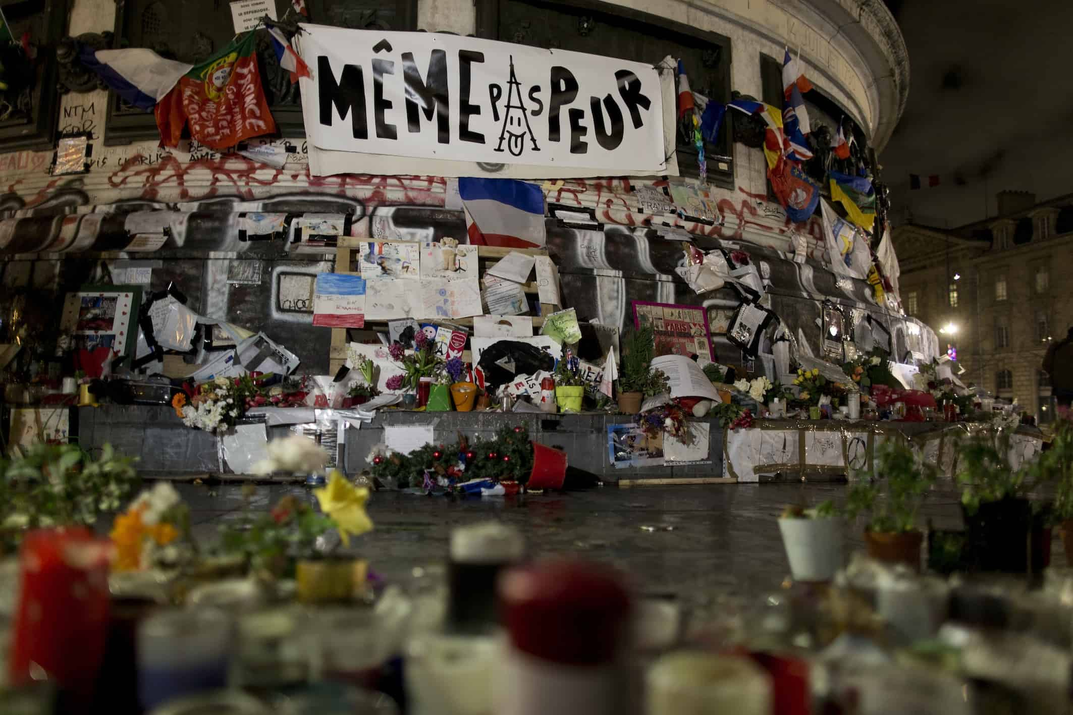 Charlie Hebdo anniversary memorial