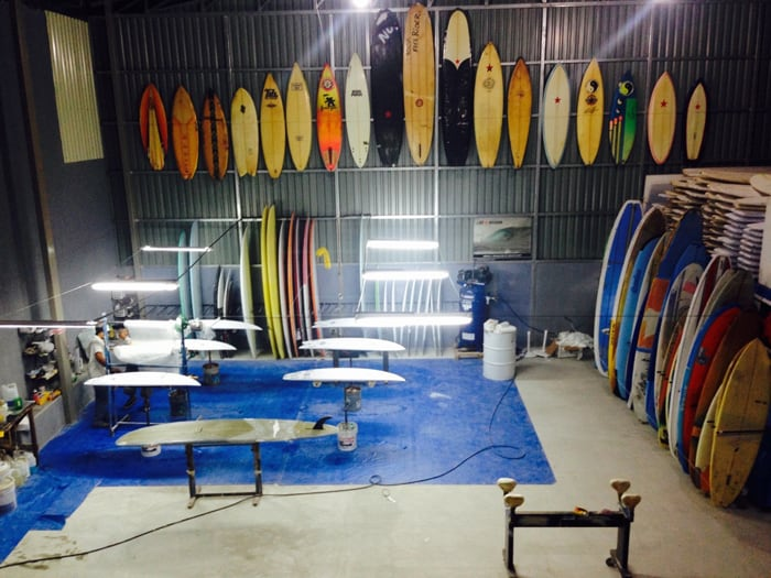 Original Cheboards line the walls of the factory.