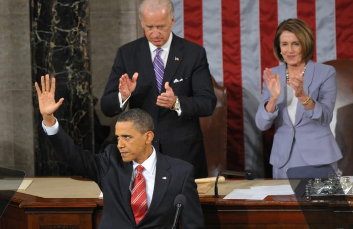 US President Barack Obama's first State of the Union