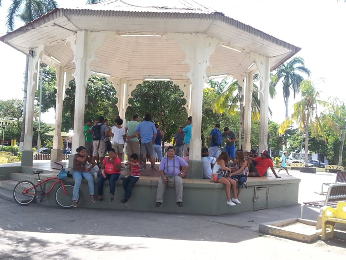 Gazebo at the Parque Central.