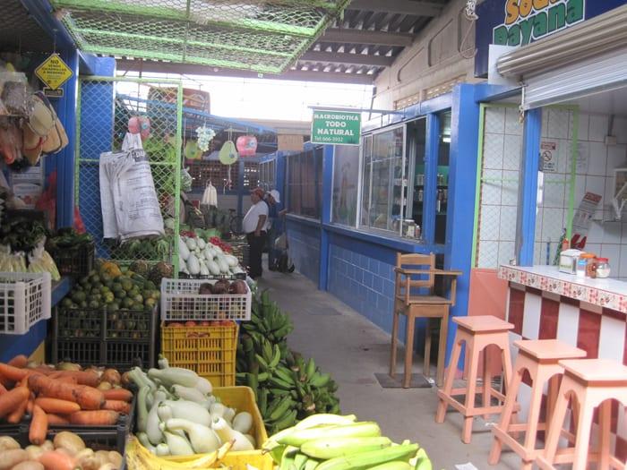 Scene in the municipal market.