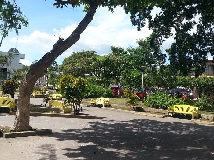 Parque Central in Liberia, Costa Rica.
